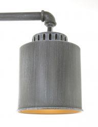 Grijze staande lamp