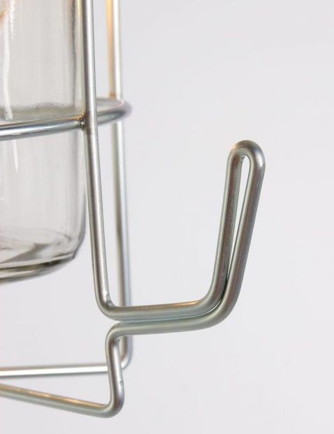 Tafellamp glas en metaal