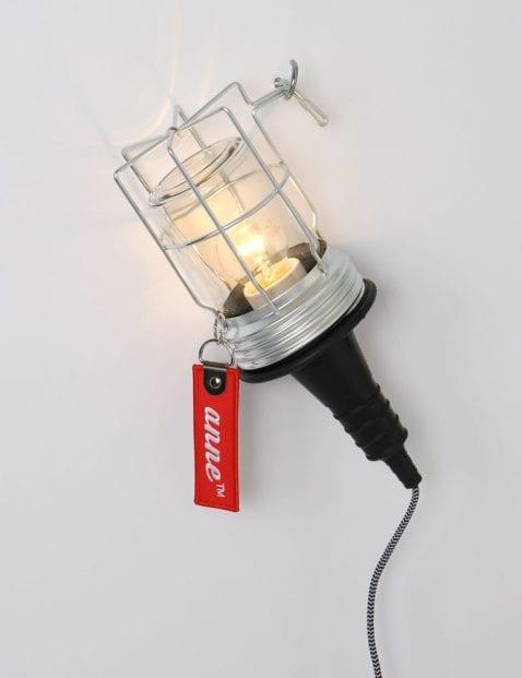 looplamp met glas en metaal