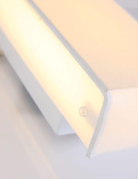 wandlamp wit stof