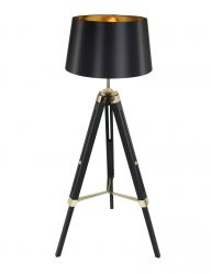 Design vloerlamp zwart