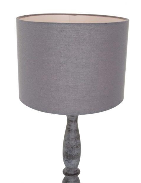 trio leuchten grijze tafellamp
