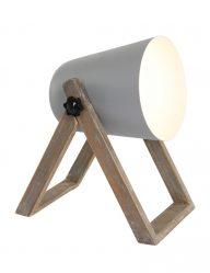 Kleine tafellamp grijs