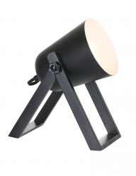 Stoere zwarte tafellamp