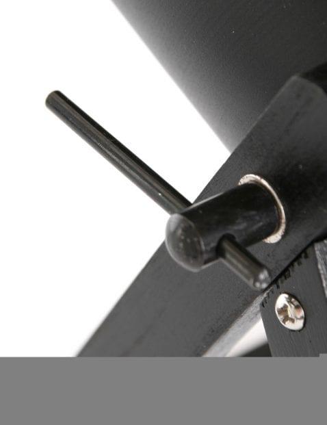 Verstelbare zwarte tafellamp