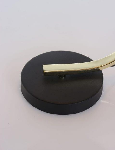 zwart met gouden tafellamp