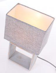 Houten tafellamp sfeerlicht