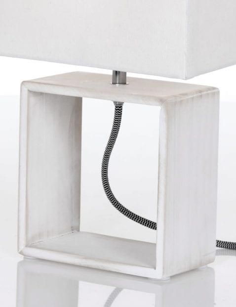 Witte moderne tafellamp