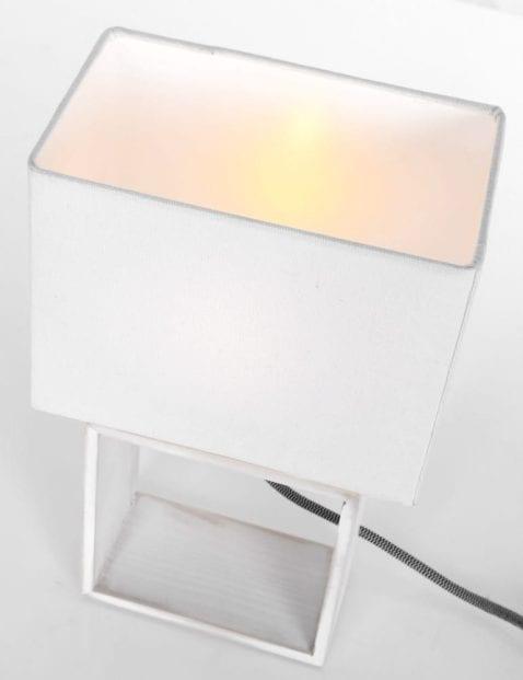 Witte tafellamp landelijk