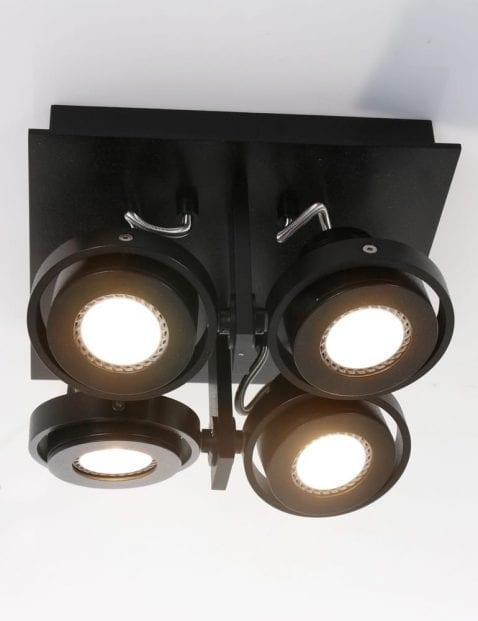 moderne plafondlamp zwart