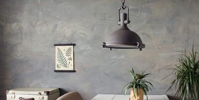 landelijke bruine hanglamp