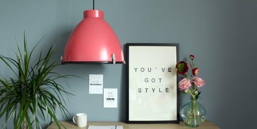 roze hanglamp kinder