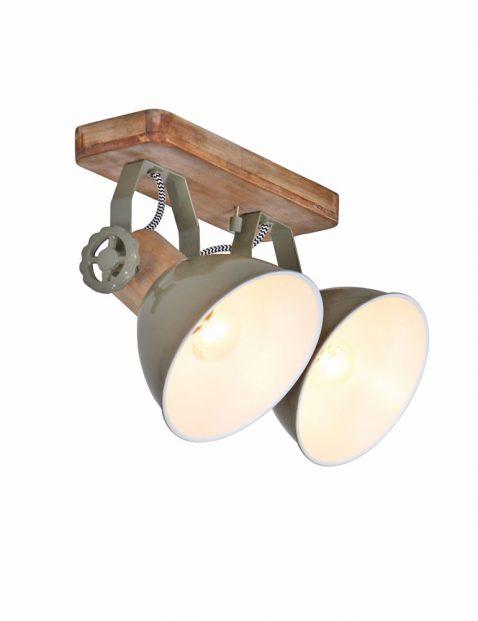 Industriële tweelichts plafondlamp - 7969G