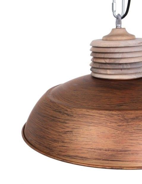 verweerde metalen hanglamp