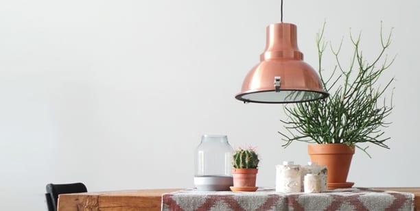 koperen hanglamp industrieel
