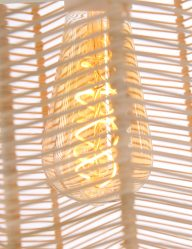 hanglamp riet bruin