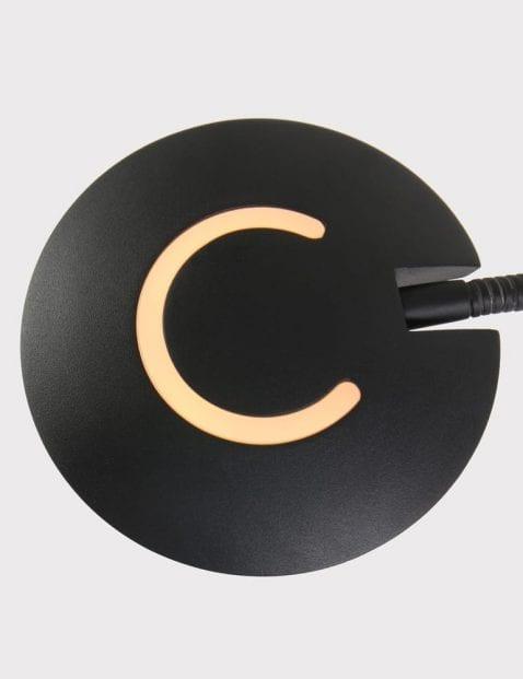 zwarte staande lamp