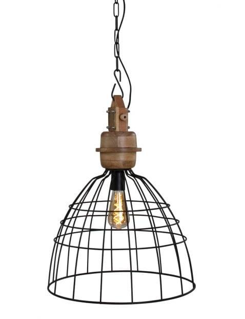 Zwarte hanglamp stoer