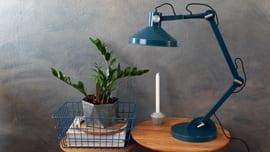 Bureaulamp-blauw
