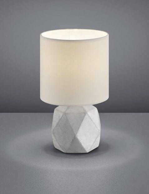 Geometrische tafellamp met kap Reality Pike wit