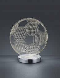 Transparante voetbal lamp Reality Ball