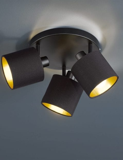 Drielichts-plafondlamp-zwart-met-goud-4