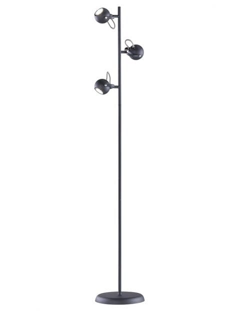 Drielichts vloerlamp met kantelbare kapjes