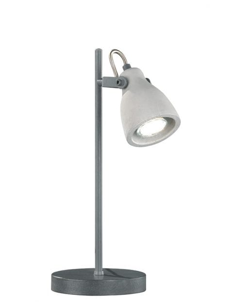 Grijze industriële bureaulamp