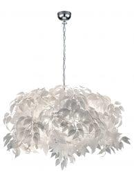 Hanglamp met witte veren