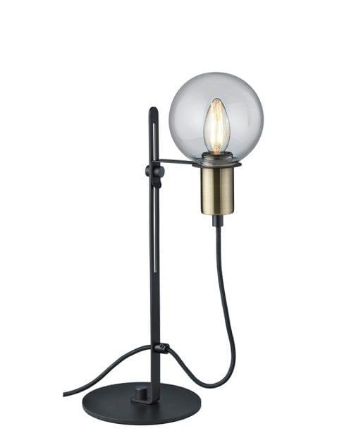 Tafellampje met bol Trio Leuchten Nacho zwart met goud