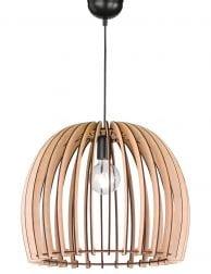 Houten spijlen hanglamp