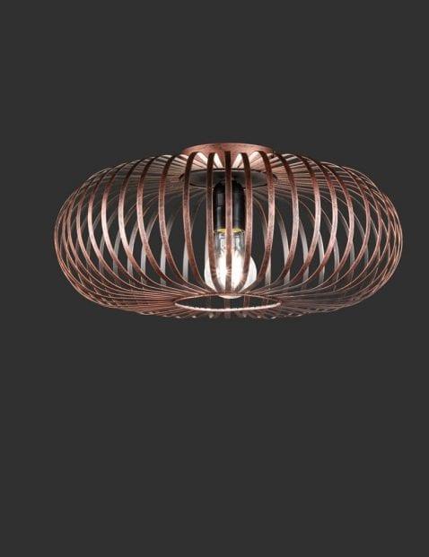 Koperkleurige-spijlen-plafondlamp-1