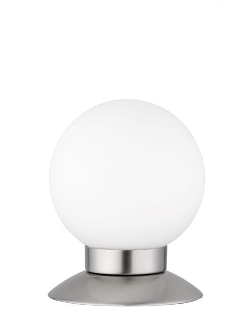 Ronde bollamp staal