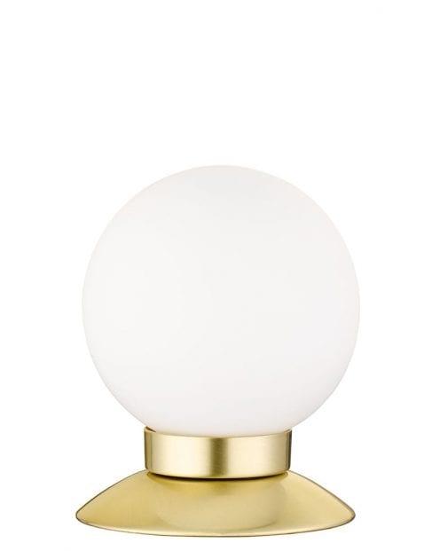Ronde tafellamp met gouden voet