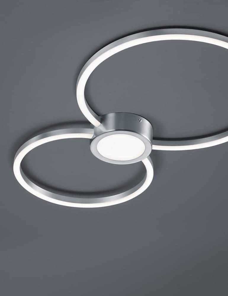 Bekend Ronde tweelichts plafondlamp Trio Leuchten Hydra - Directlampen.nl IY88