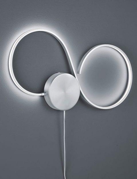 Ronde-tweelichts-wandlamp