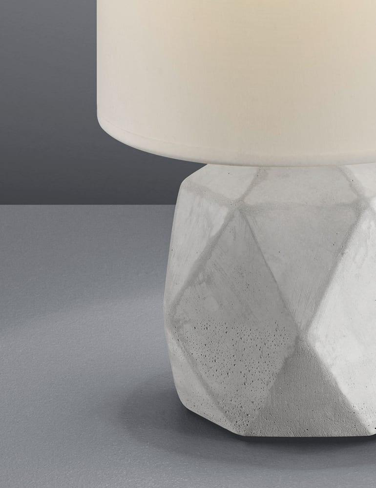 Fabulous Tafellamp betonnen voet en witte kap Reality Pike - Directlampen.nl &MB65