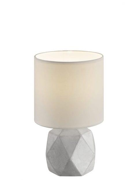 Tafellamp betonnen voet en witte kap