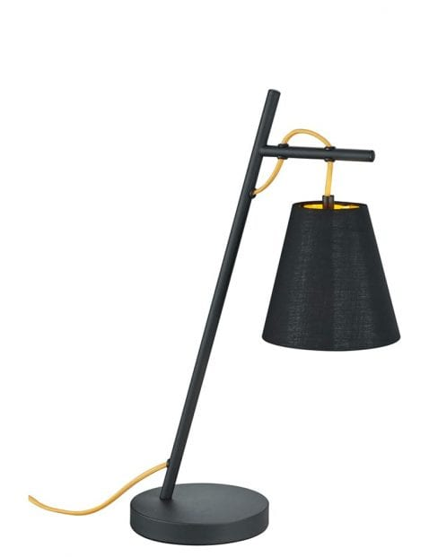Tafellamp met gouden binnenzijde