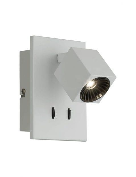 Witte kantelbare wandlamp