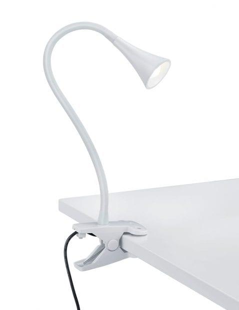 Witte tafel klemlamp