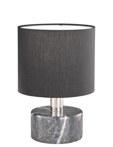 Zwarte tafellamp met marmeren voet