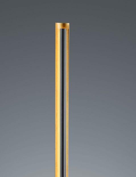 Zwarte-vloerlamp-met-gouden-binnenzijde-2