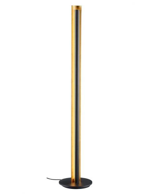 Zwarte vloerlamp met gouden binnenzijde