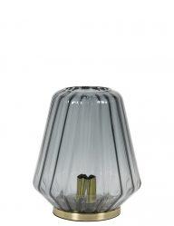 1-lichts tafellamp met donker glas en goud