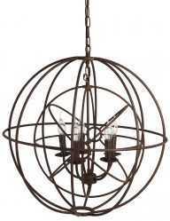 4-lichts hanglamp globo