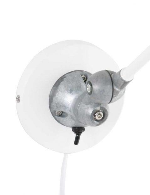 Praktische wandlamp wit