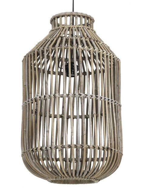 Bamboe draadlamp woonkamer