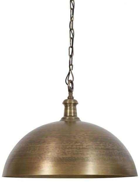 Bronskleurige lamp eettafel