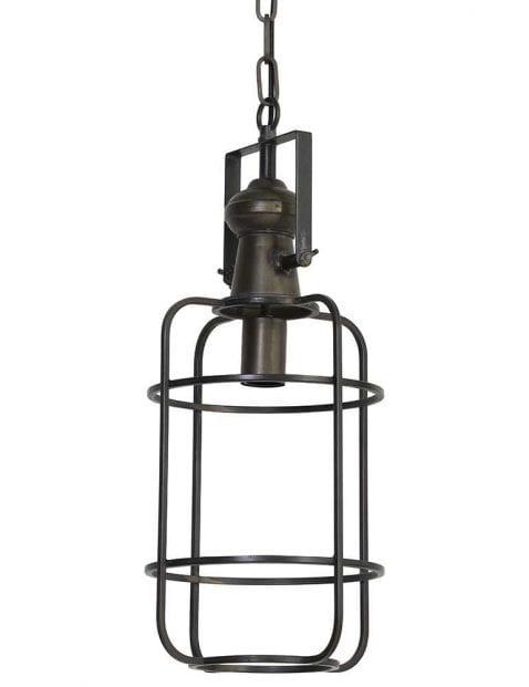 Bronskleurige lantaarn hanglamp